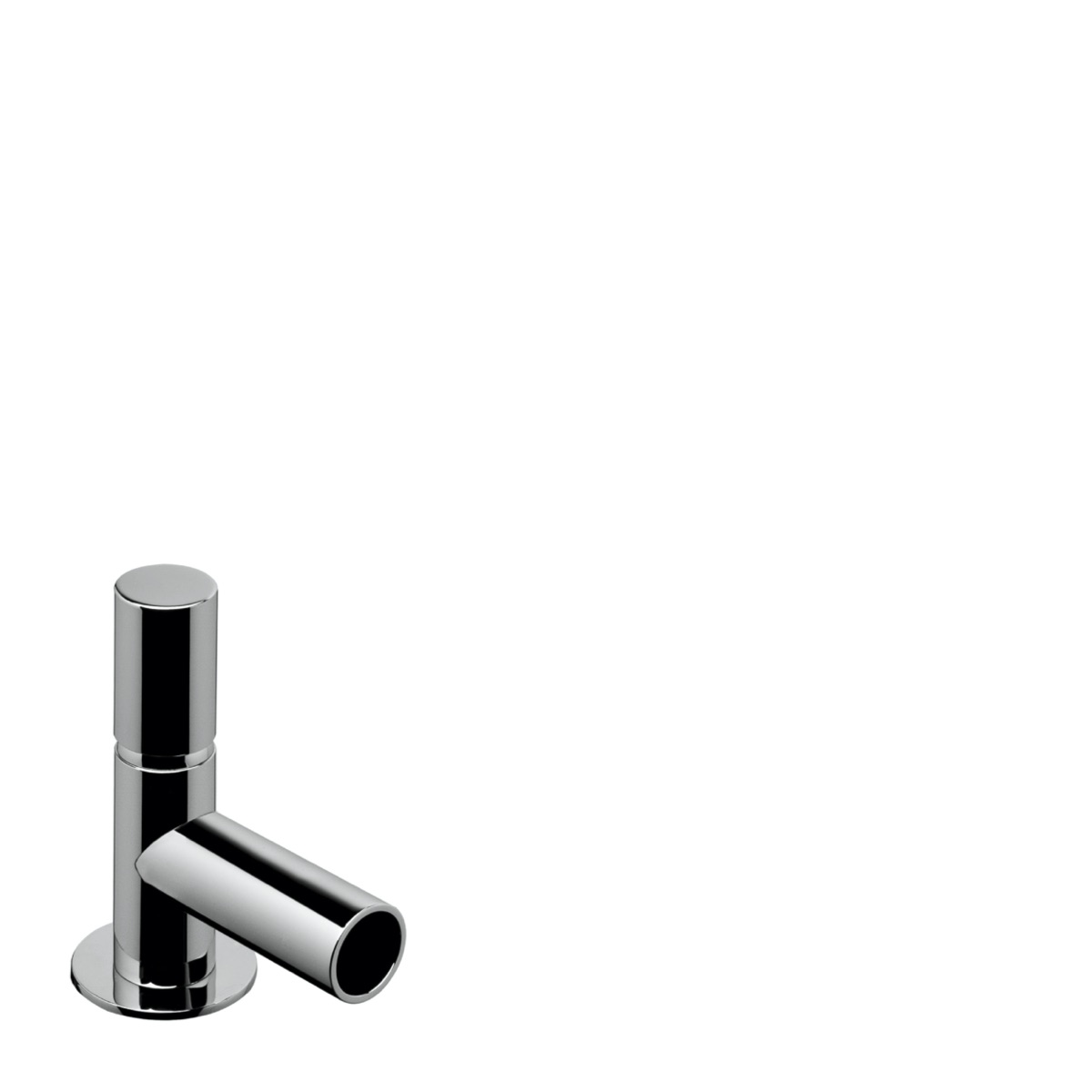 Single lever bidet mixer with waste