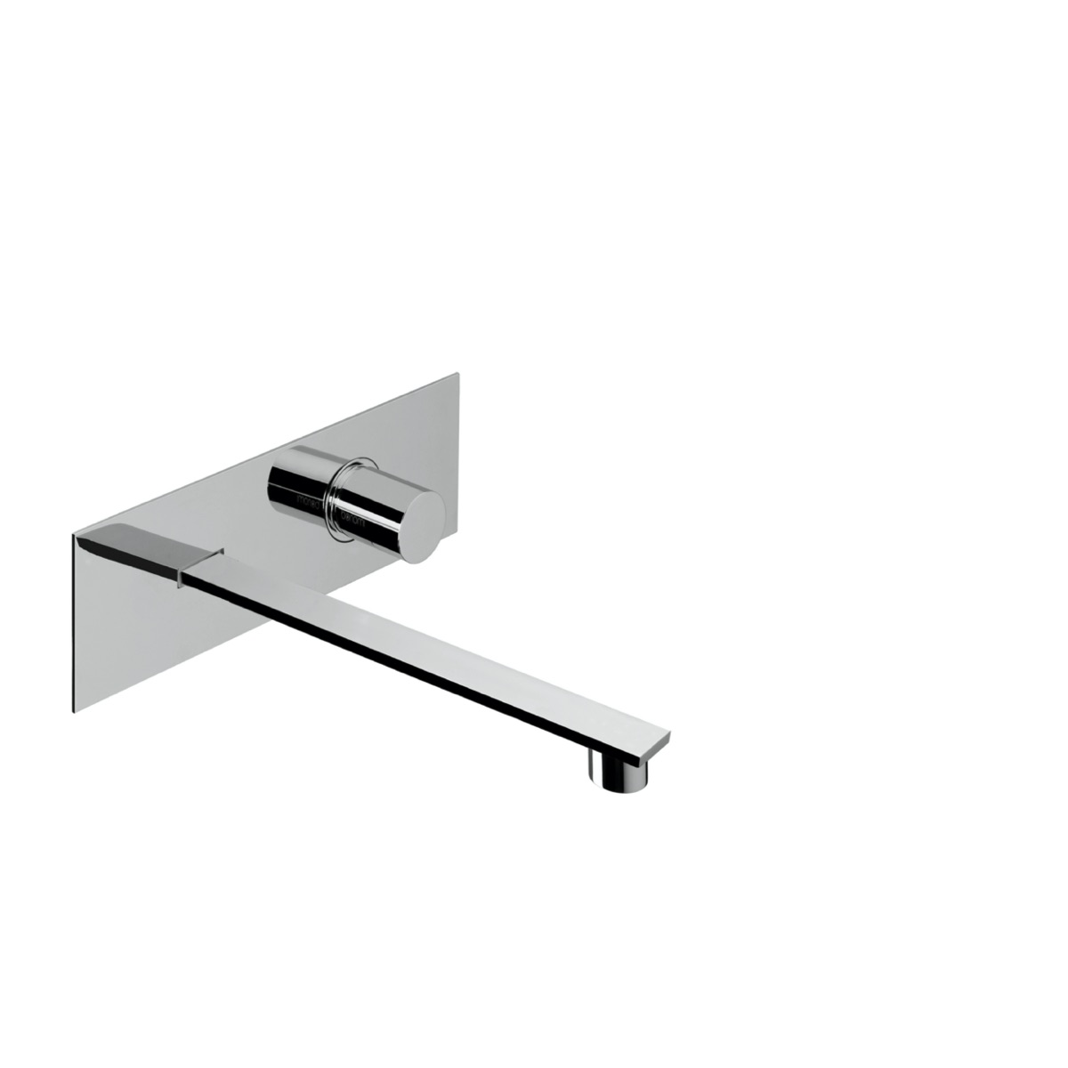 Wall mounted basin mixer with 212 mm spout  and plate