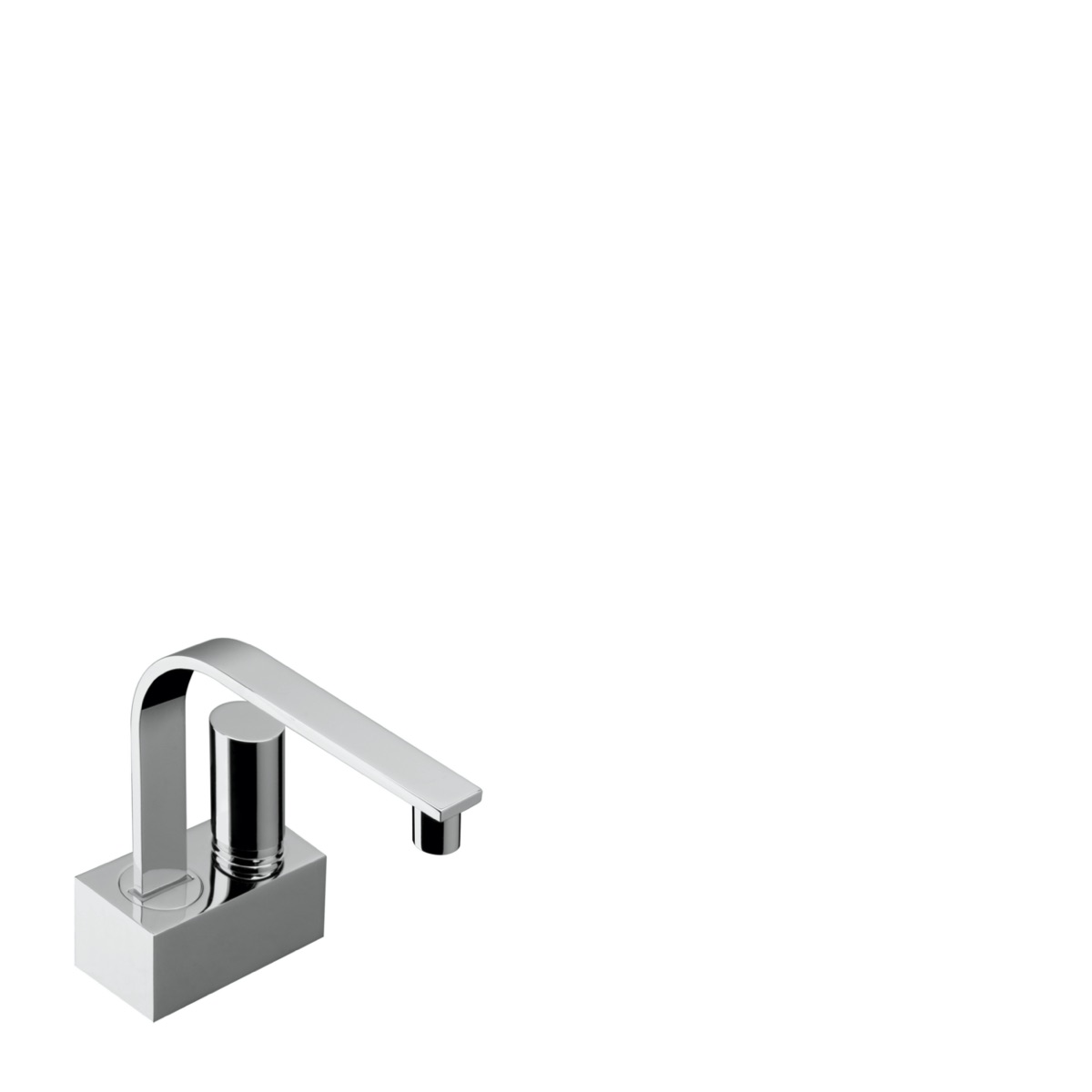 Single lever basin mixer and waste