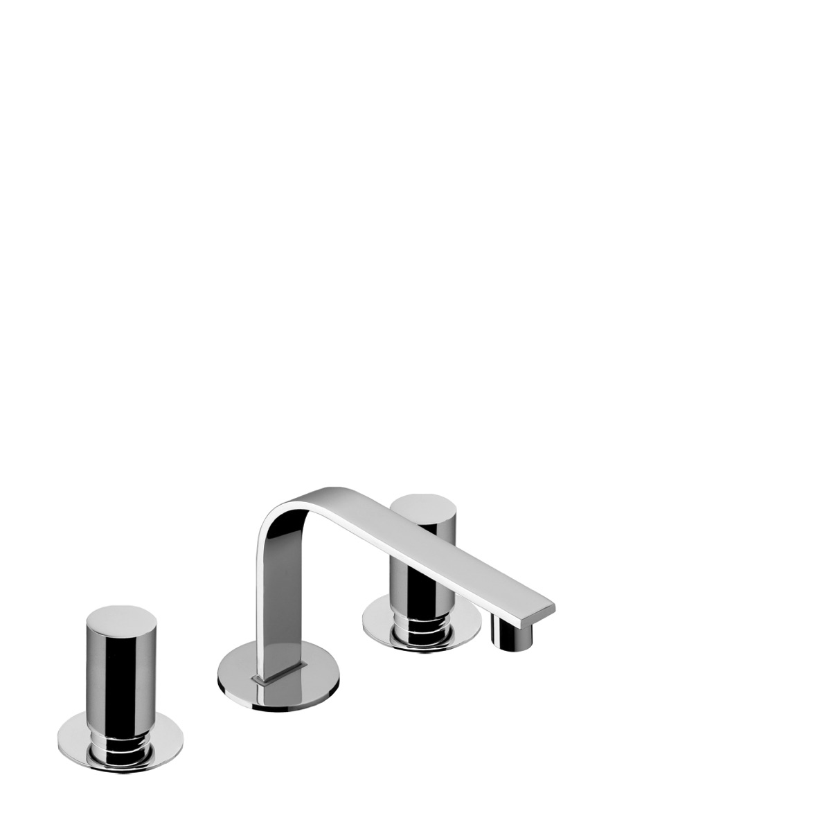 3 hole deck mounted basin mixer with 112 mm spout with waste